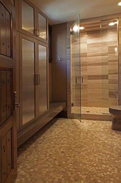 Old World Deer Lodge Estate rustic-bathroom
