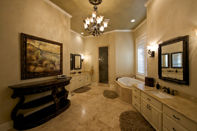 Old World Master Bath Mediterranean Bathroom Dallas