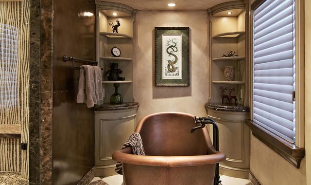 Mediterranean Master Bathroom Ideas: Old World Master Bath Remodel