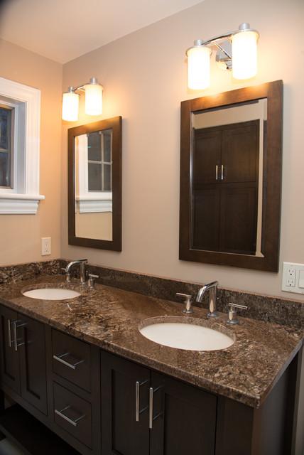 Omega pinnacle cherry truffle vanity for Omega bathroom vanity cabinet
