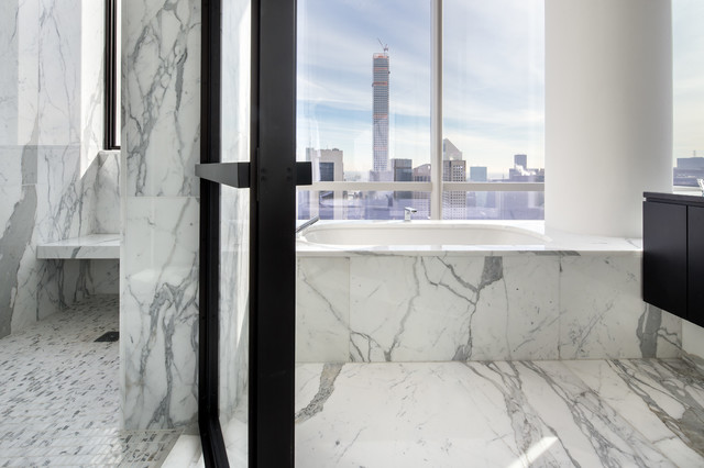 One57 new york city moderno stanza da bagno new york di ciot