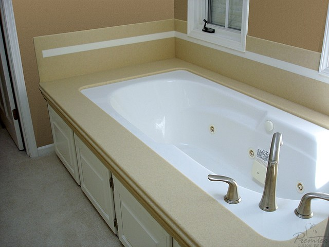 Onyx Series Solid Surface Tub Surrounds traditional bathroom. Onyx Series Solid Surface Tub Surrounds