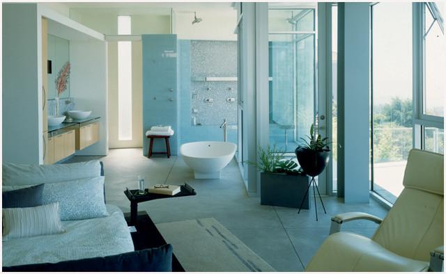 Open Floor Plan Master Bath Bedroom Sovremennyj Vannaya Komnata San Francisko Ot Eksperta Tkid Houzz Rossiya