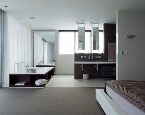 IL BAGNO OPEN SPACE IN CAMERA DA LETTO: CONTEMPORANEO E ...