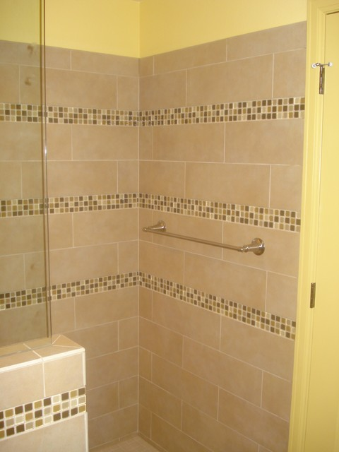 Open Shower Concept traditional-bathroom