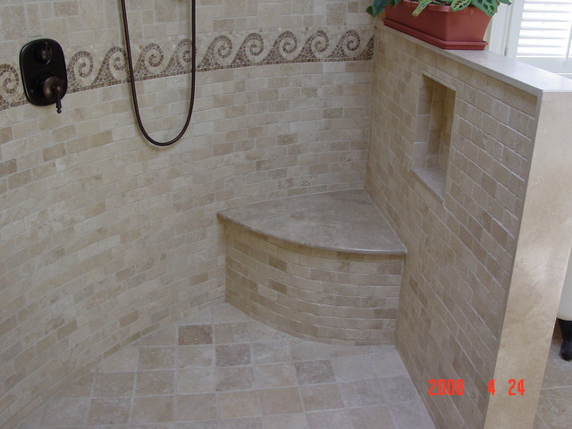 Open shower design traditional bathroom other by for Open shower bathroom