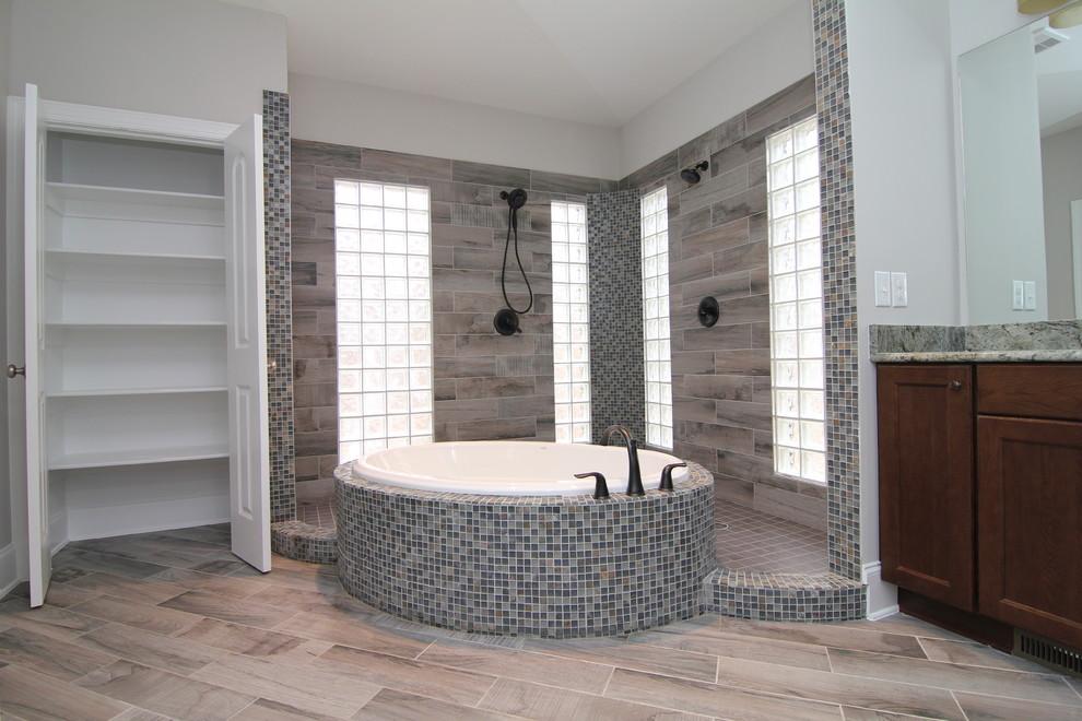 Open Shower Designs Rustic Bathroom