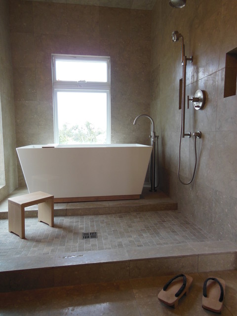 Open wet room bathroom remodel for Wet room or bathroom