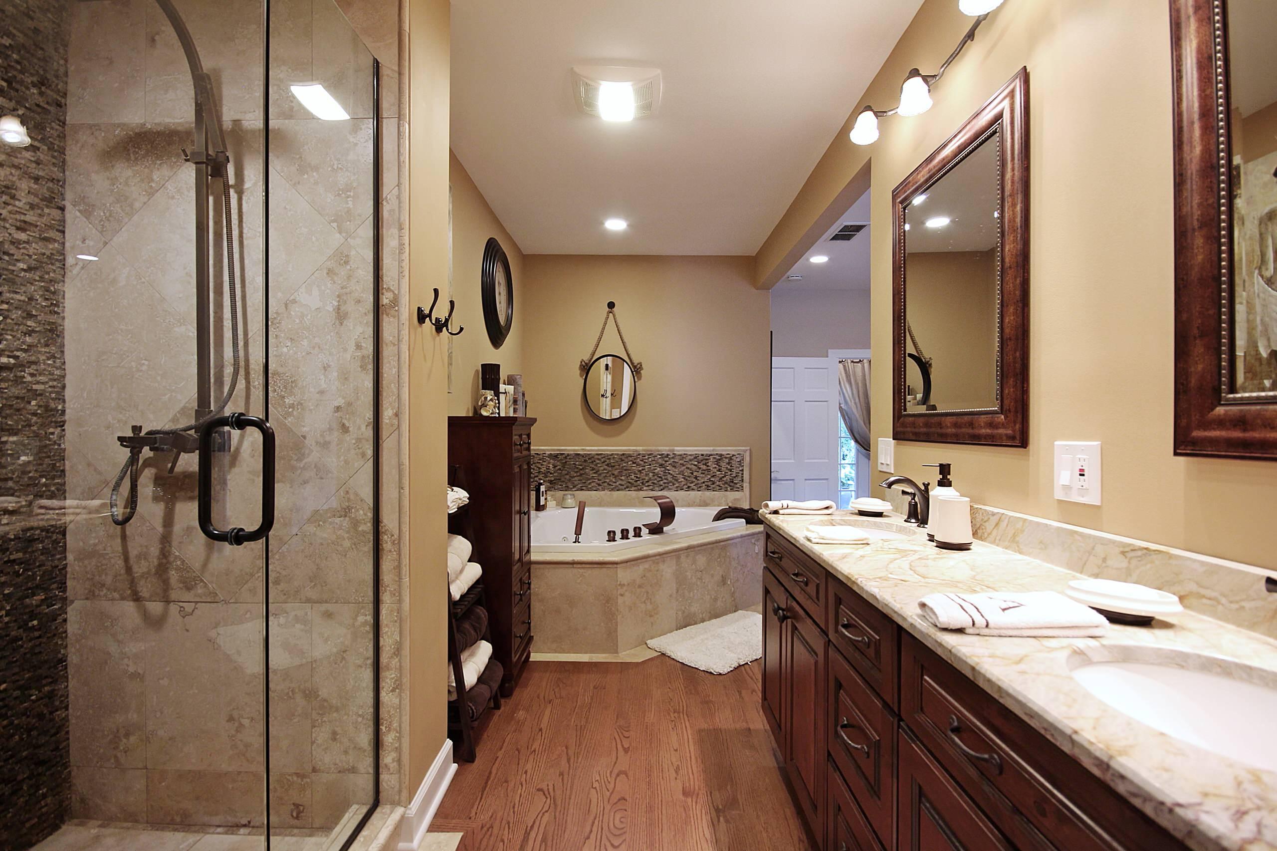 Opened Rustic Master Bathroom in Chicago Northwest Suburbs