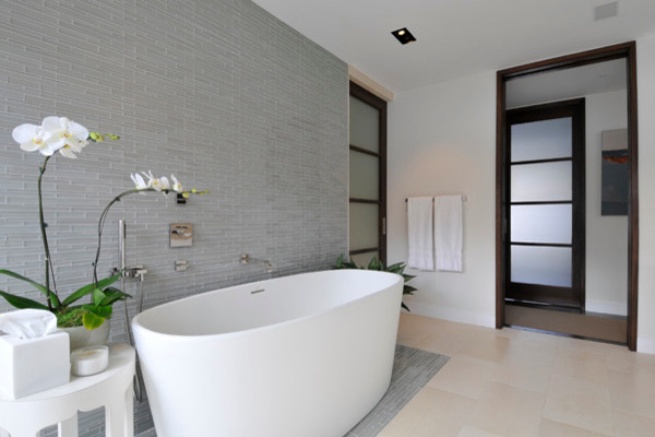 Opera Glass Bathroom Feature Wall Contemporary