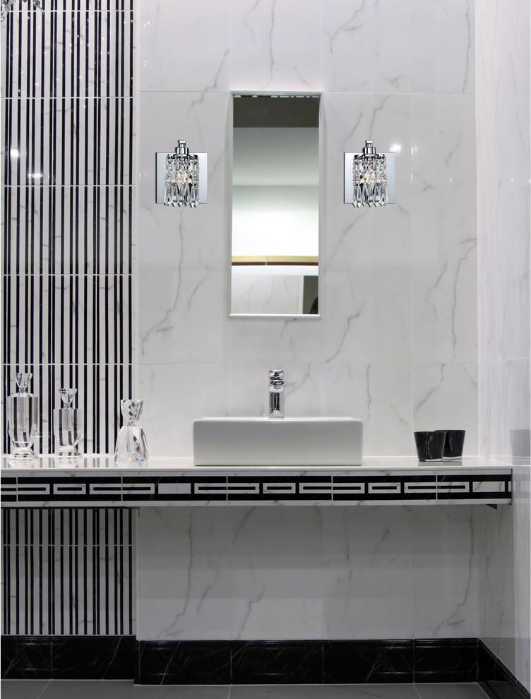 Chrome And Crystal Bathroom Sconces