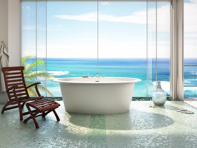 ORA Oval 6838 Freestanding Bathtub by BainUltra - Tropical ...