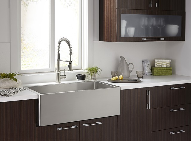 Great Orchard Stainless Steel Apron Sink Modern Bathroom