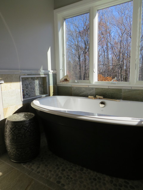 Organic Master Retreat Beach Style Bathroom Portland Maine By Robin Amorello Ckd Caps