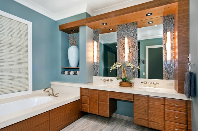 contemporary bathroom by MAY designs