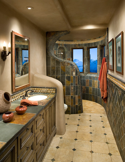 Organic Southwest - Southwestern - Bathroom - Phoenix - by Urban Design Associates