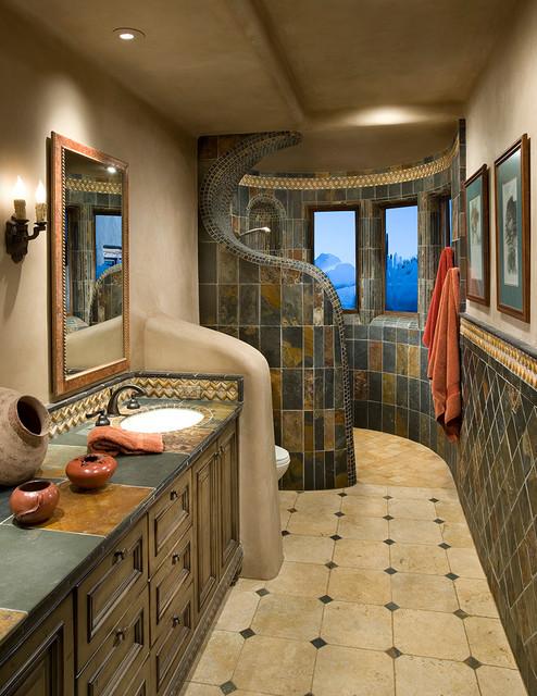 Organic southwest southwestern bathroom phoenix by for Southwest bathroom designs