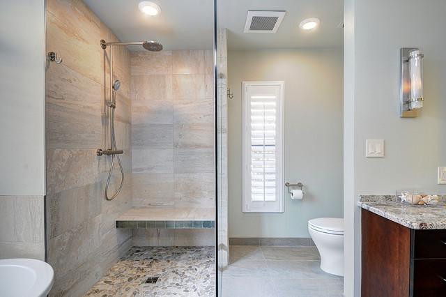 Organic spa retreat beach style bathroom tampa by for Spa retreat bathroom ideas