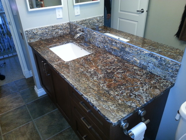 Exotic Stone Countertops : Orion exotic granite modern bathroom other by