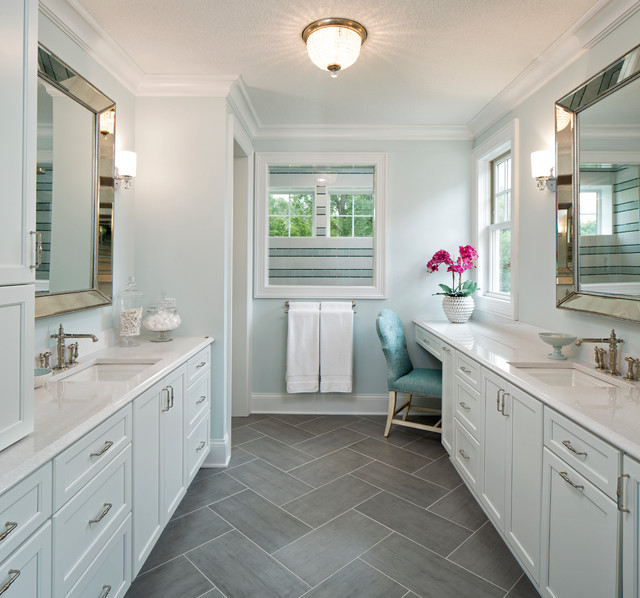 Transitional Master Bathroom Ideas : Orono artisan tour home transitional bathroom