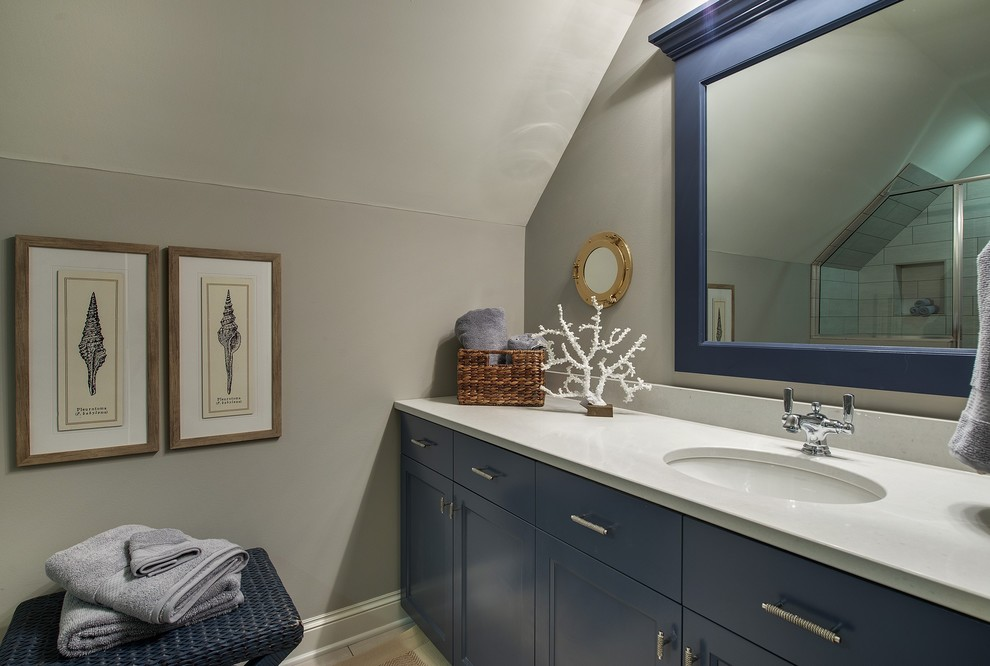 Inspiration for a coastal bathroom remodel in Minneapolis