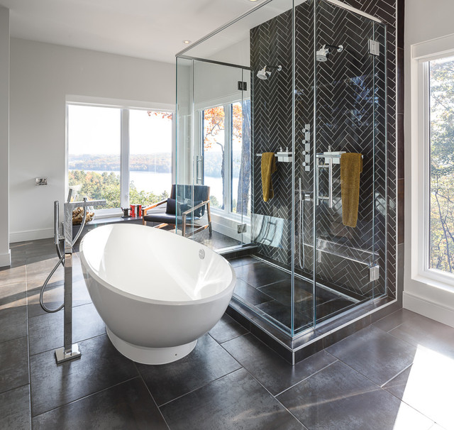 Ottawa Home In The Hills Modern Kitchen Bath Astro Design Contemporary Bathroom
