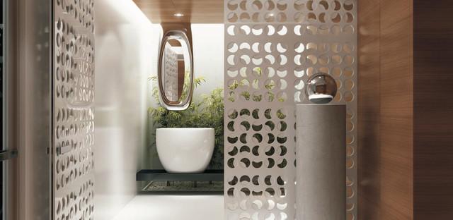 Our architectural room divider panels designer doors for Room divider for bathroom