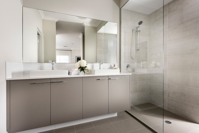 Our display homes the odin contemporary bathroom for Dale bathrooms