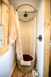 Our Tiny Tack House rustic-bathroom
