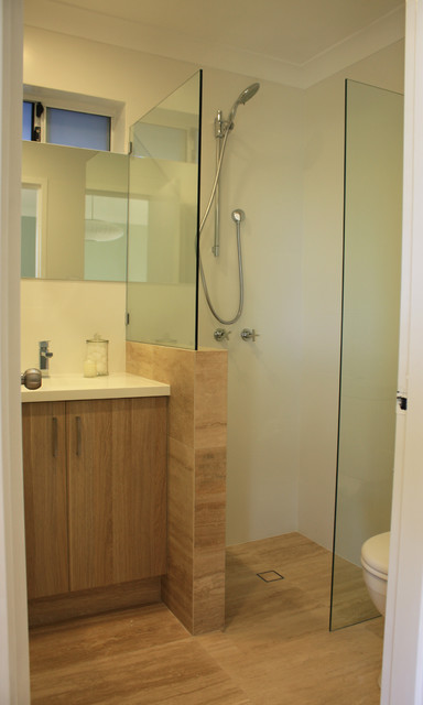 Our very small ensuite renovation modern bathroom for Small ensuite bathroom
