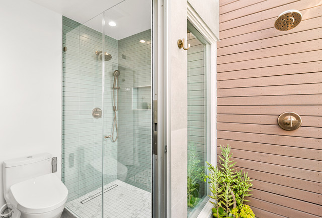 New Outdoor Shower Turns a Master Bathroom Into an Oasis on beach house design, dining room house design, outdoor bath house design, bedroom house design, porch house design, laundry house design, gym house design, toilet house design, balcony house design, bathroom house design, outdoor dog house design, pool house design, construction house design, nice furniture house design, storage shed house design, outdoor bathroom, patio house design, outdoor kitchen designs,