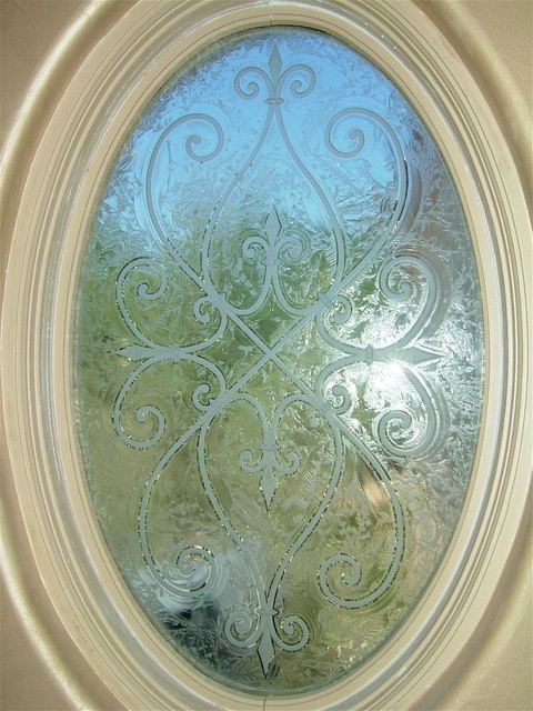 Oval cordoba bathroom windows frosted glass designs for Window treatment for oval window