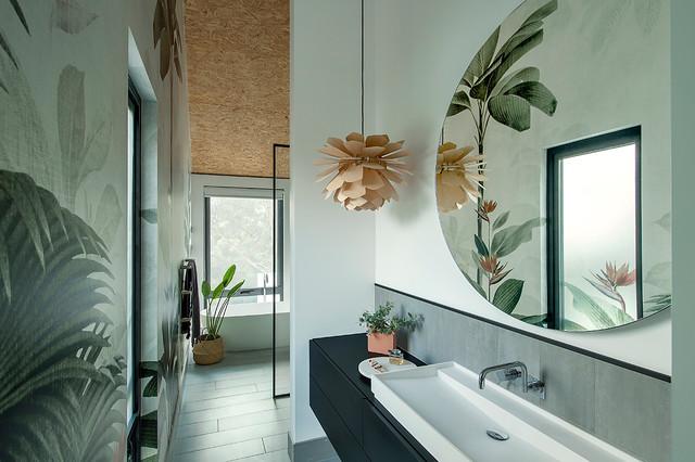 Sala Da Bagno Stile Contemporaneo : Oxley house contemporaneo stanza da bagno perth di studio