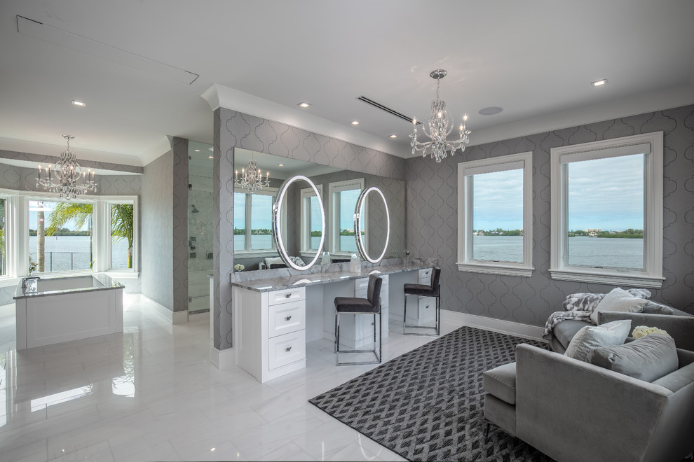 Oyster Bay Estates - Beach Style - Bathroom - Tampa - by ...