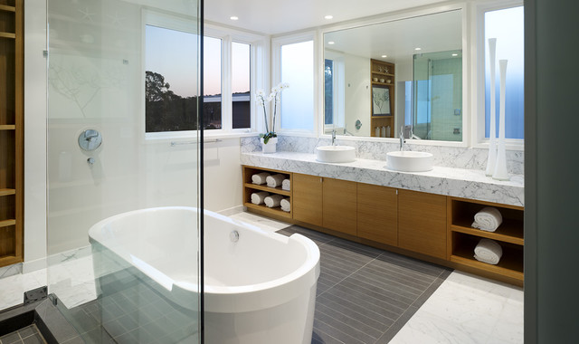 Pacific Avenue contemporary-bathroom