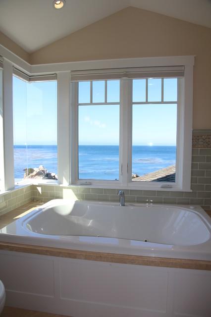 Pacific Grove Beach House beach-style-bathroom