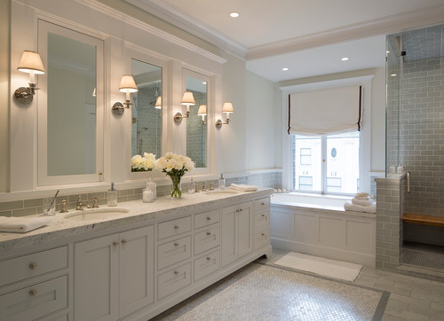 how to light a bathroom mirror with sconces