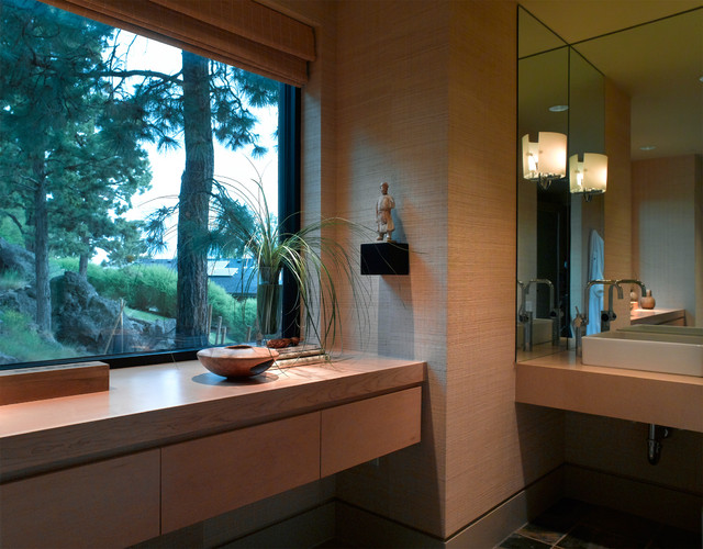 Pacific northwest contemporary contemporary bathroom for Northwest contemporary design