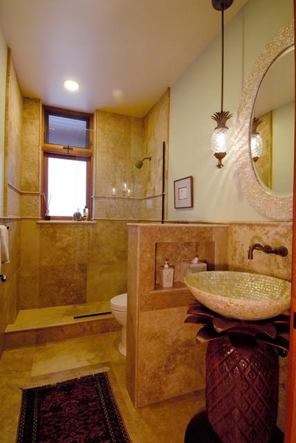 Tropical Bathroom Tile Ideas : Paiko lagoon oasis tropical bathroom hawaii by