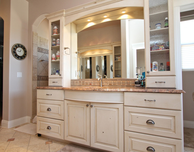 Painted Cabinets traditional-bathroom