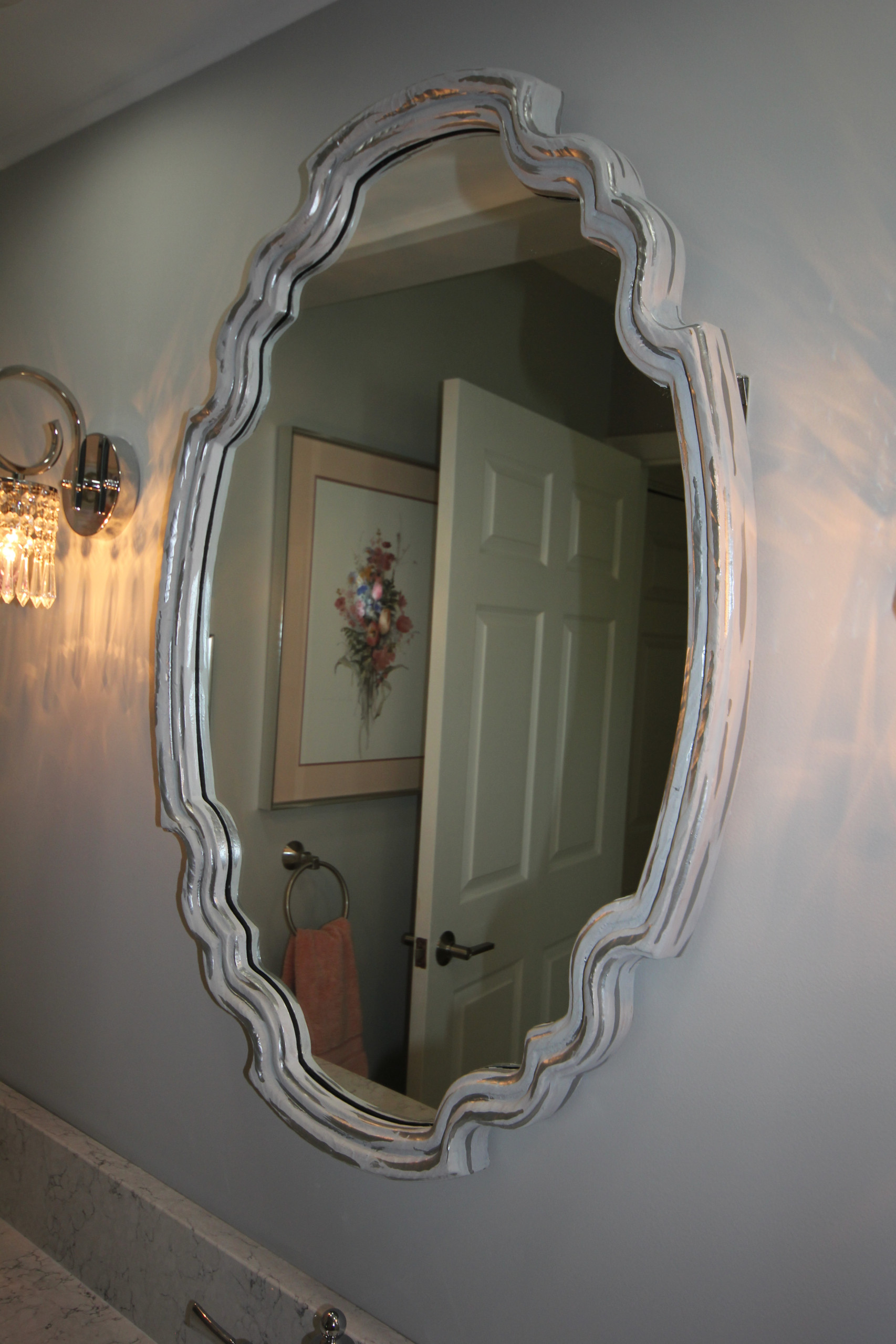 Painted mirror.