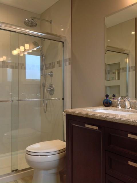 Pair of bathrooms in kirkland traditional bathroom for Bathroom decor kirklands