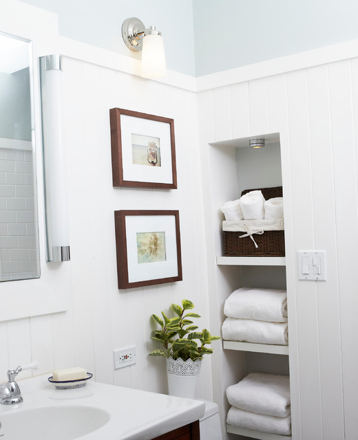 Pair of gallery frames - Traditional - Bathroom - Chicago - by Change of Art®