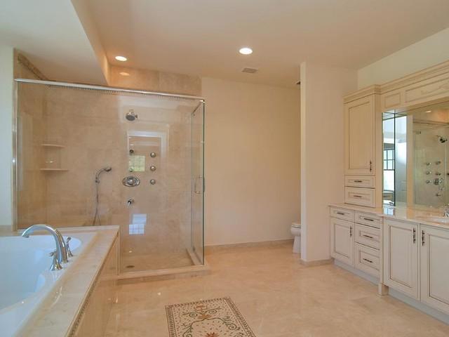 Pale Pink Bathroom contemporary-bathroom