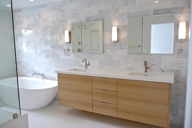 Palisades Master Bath Modern Bathroom Los Angeles By Shelby Wood Design