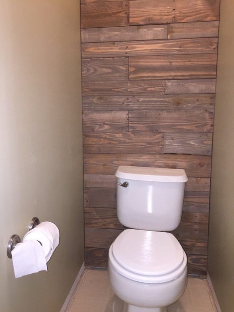 Pallet Wall Install (after) - Rustic - Bathroom - Salt Lake City - by InterMountain Service