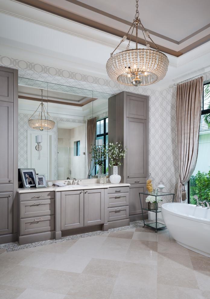 Palm Beach Gardens Home - Transitional - Bathroom - Miami ...