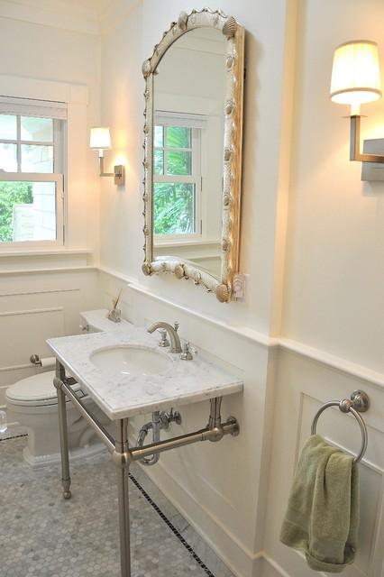 Palm Beach Powder Room Tropical Bathroom Miami By Vintage Building And Design