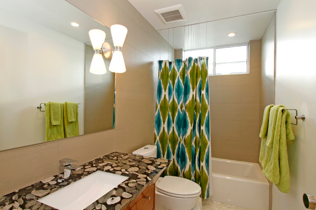 palm desert modern guestkids bathroom modern bathroom