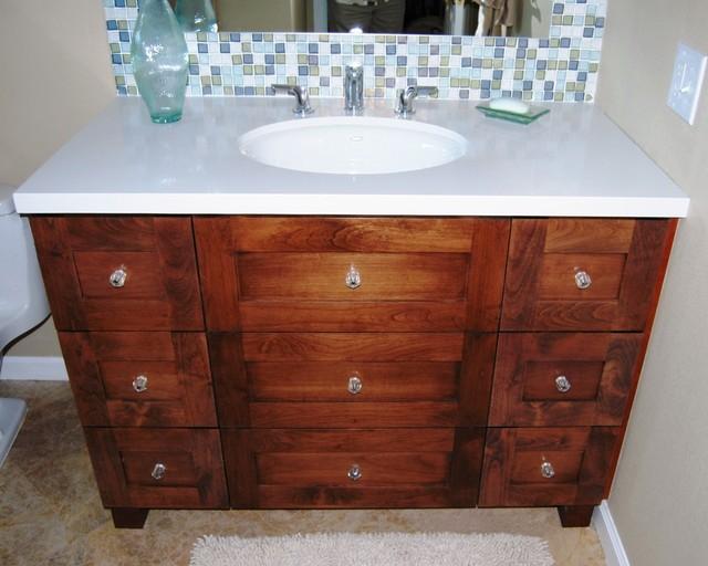 Palm Desert Traditional Knotty Alder Bath Vanity Traditional Bathroom Los Angeles By